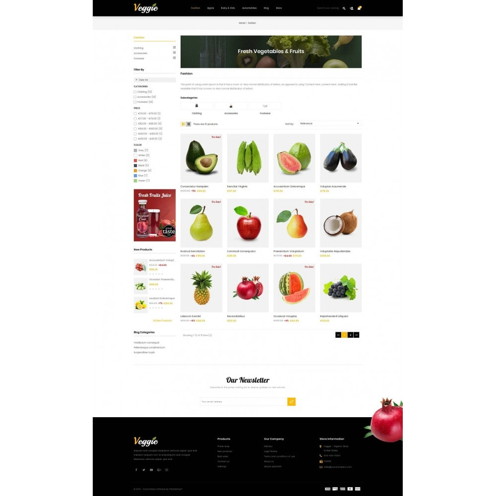 theme - Alimentation & Restauration - Veggie - Organic Store - 3