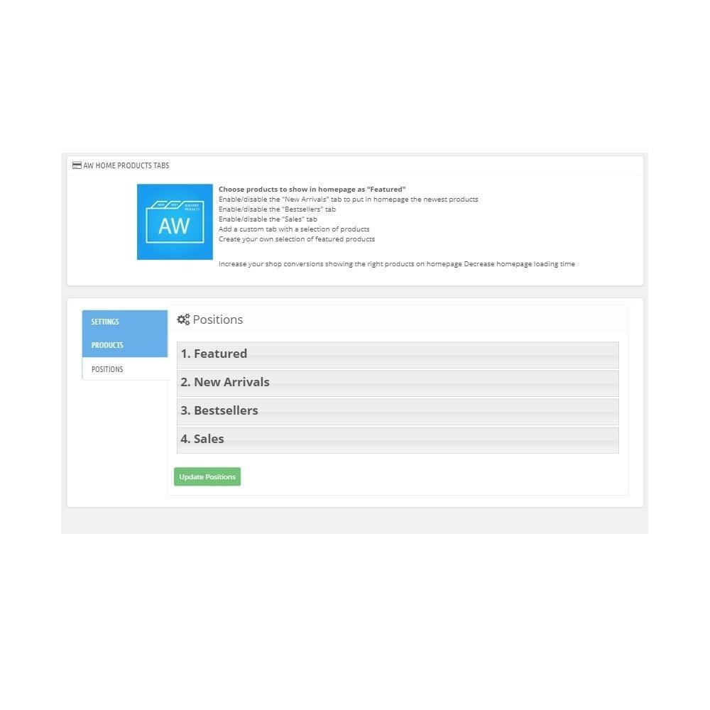 module - Prodotti su Home - AW Home products tabs - 3