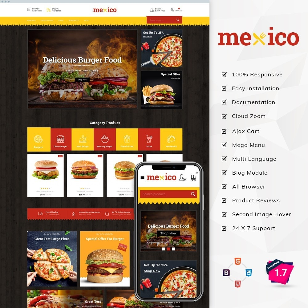 theme - Alimentos & Restaurantes - Mexico Food Store - 1