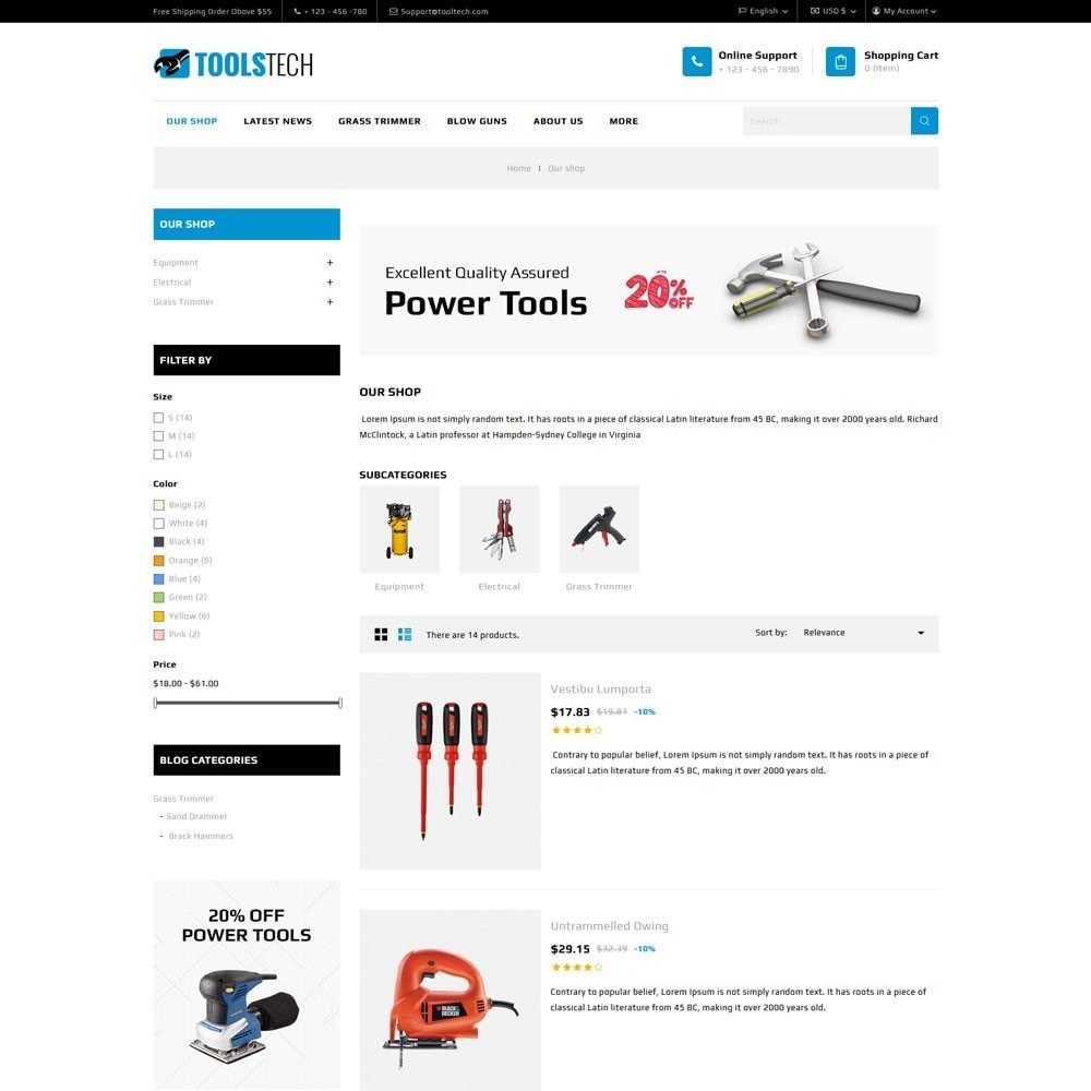 theme - Electronics & Computers - ToolTech - The Tool Store - 8