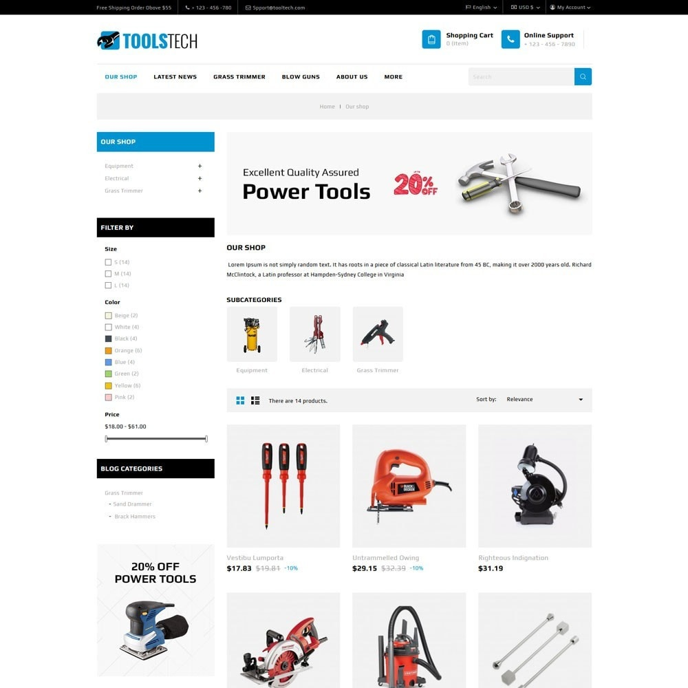 theme - Elettronica & High Tech - ToolTech - The Tool Store - 8