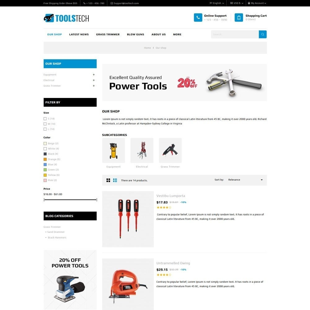 theme - Electronique & High Tech - ToolTech - Le magasin d'outils - 8