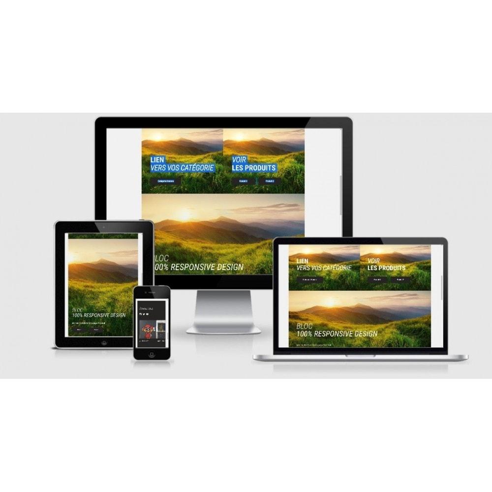 module - Page Customization - HTML blocks - home page - 1