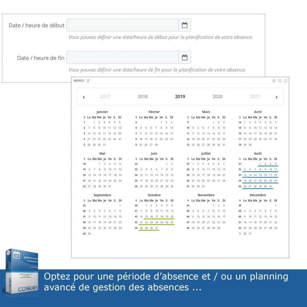 module - Service Client - Gestionnaire d'absence - 9