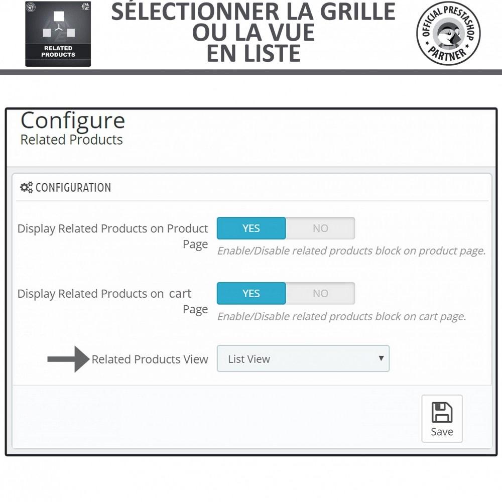 module - Ventes croisées & Packs de produits - Produits Connexes, Curseur Réactif de Produits Connexes - 5