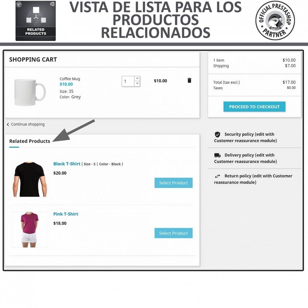 module - Ventas cruzadas y Packs de productos - Deslizador de productos relacionados / similares - 3