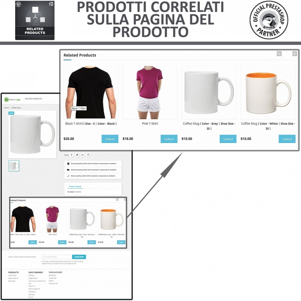 module - Cross-selling & Product Bundle - Prodotti Correlati,  Una Slider per Prodotti Simili - 2