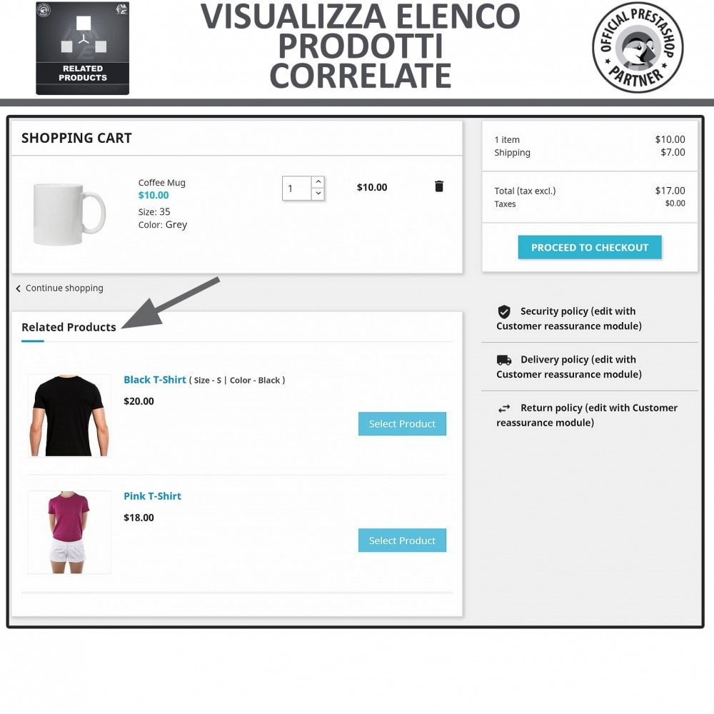 module - Cross-selling & Product Bundle - Prodotti Correlati,  Una Slider per Prodotti Simili - 4