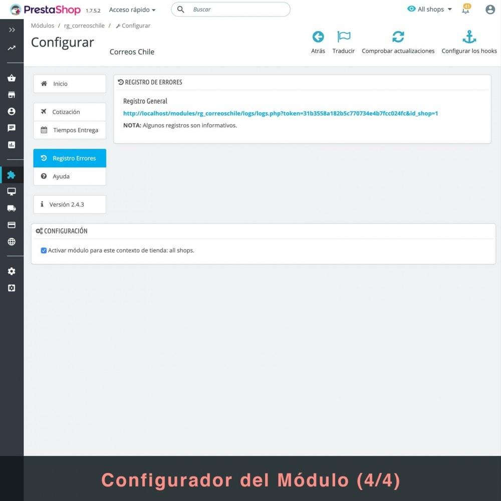 module - Verzendkosten - Correos Chile - 6