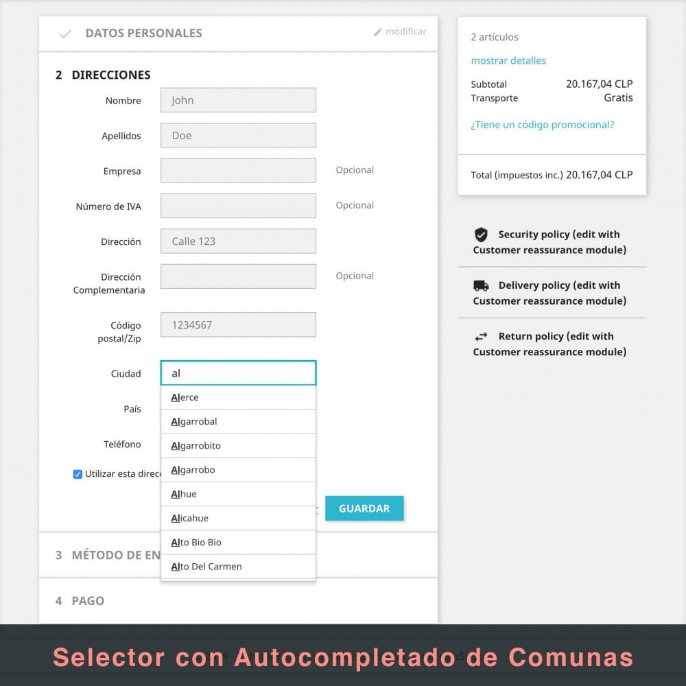 module - Spese di Spedizione - Correos Chile - 8