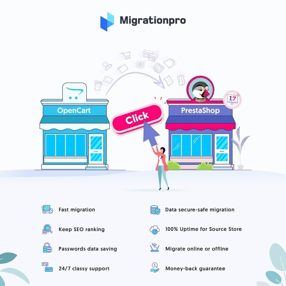 module - Data migration & Backup - MigrationPro: OpenCart To PrestaShop Migration Tool - 1