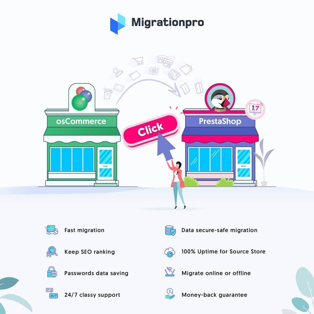 module - Миграции и сохранения данных - MigrationPro: osCommerce to PrestaShop Migration Tool - 1