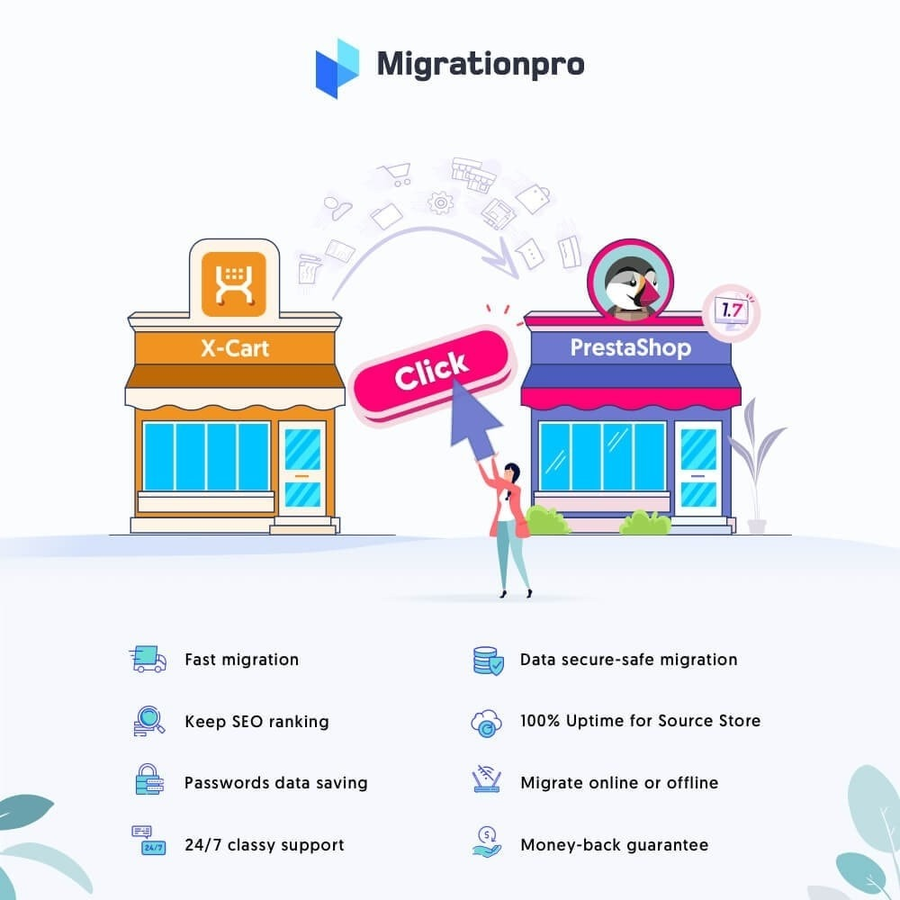 module - Data migration & Backup - MigrationPro: X-Cart to PrestaShop Migration tool - 1