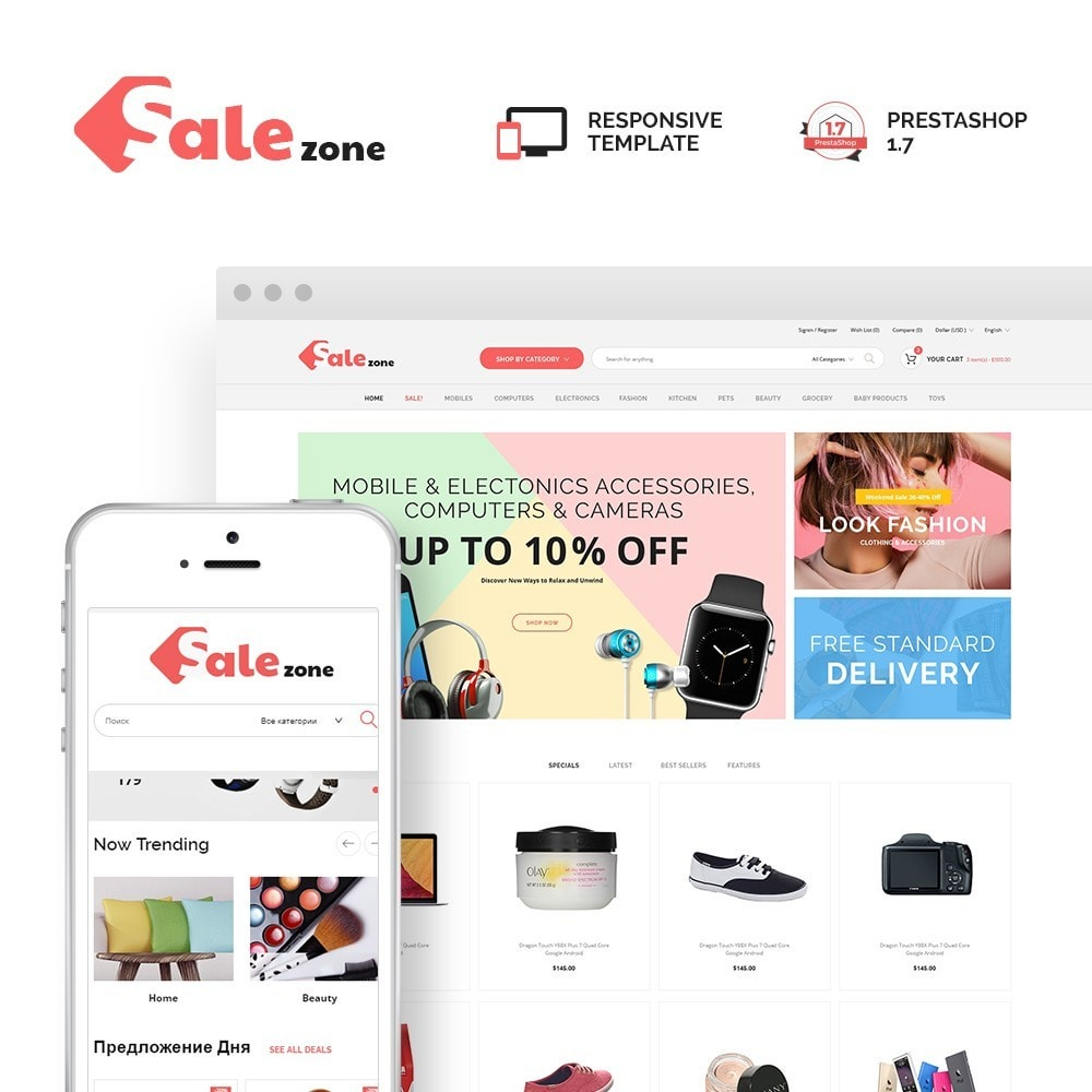 theme - Fashion & Shoes - SaleZone - Great Store Means Great Choice - 1