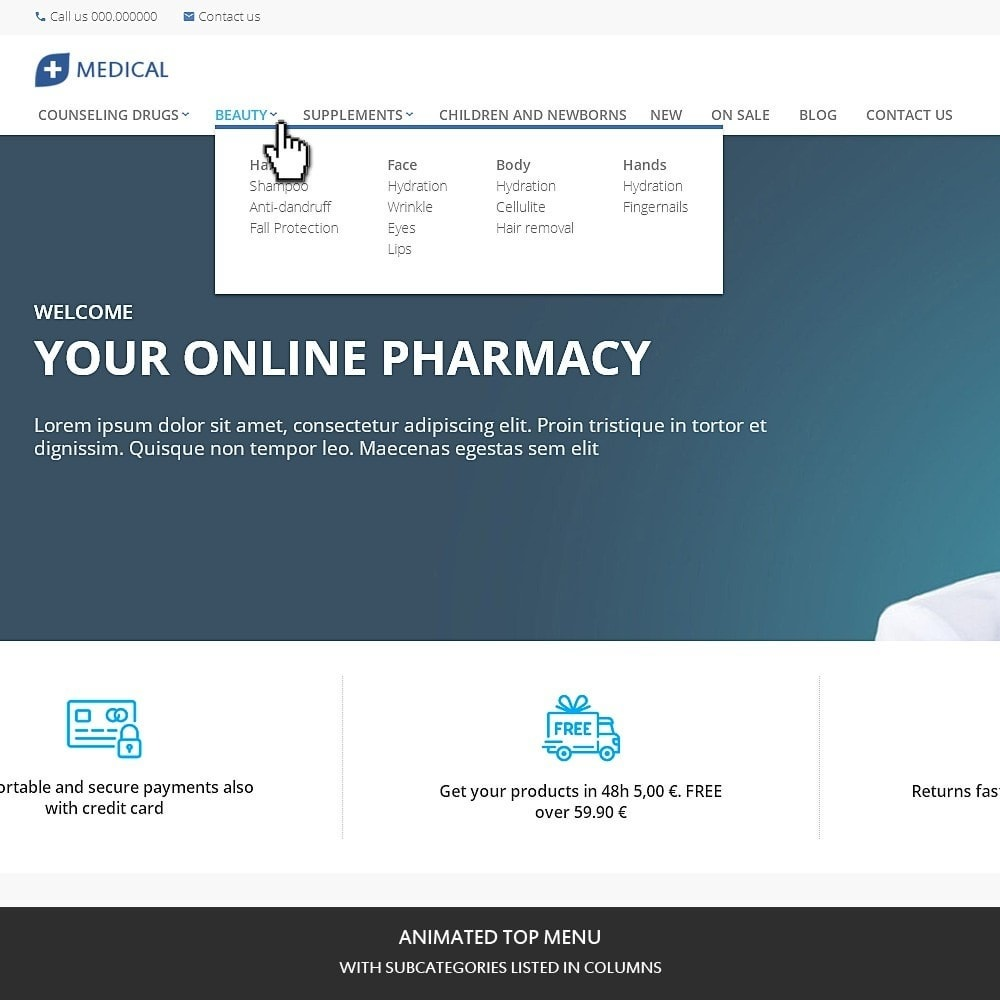 theme - Здоровье и красота - Medical for pharmacy, health and medical store - 2