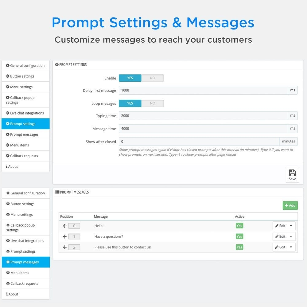 module - Support & Online Chat - All-in-One - Live Chat, WhatsApp, Call Back, Messenger - 10