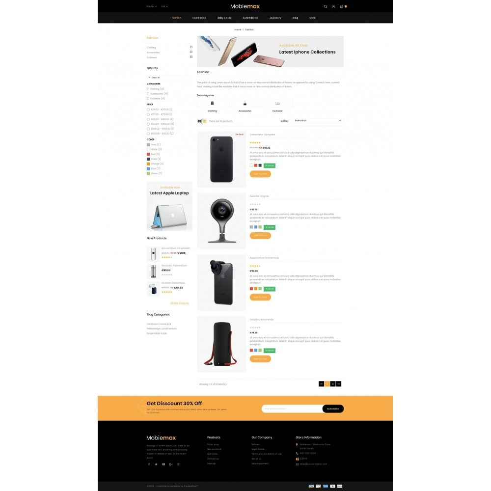 theme - Electronique & High Tech - Mobimax - Online Mobile Store - 4