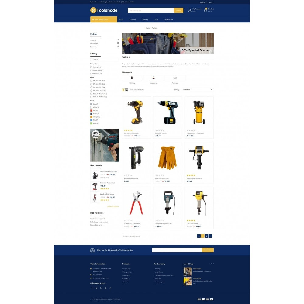 theme - Samochody - Tools kit Store - 2