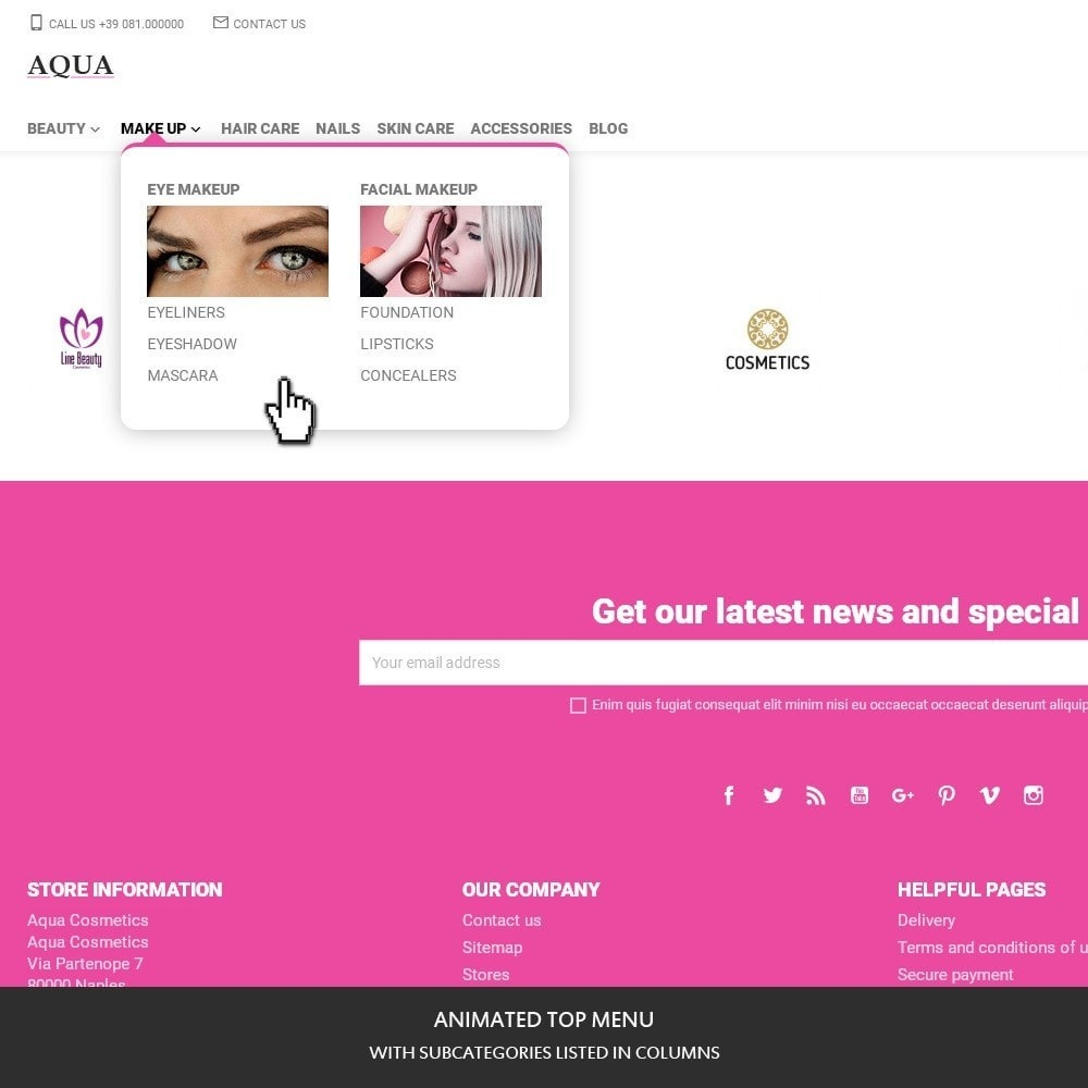 theme - Здоровье и красота - Aqua for cosmetics, beauty and sexy shops - 2
