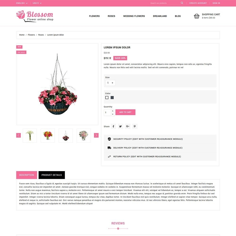 theme - Gifts, Flowers & Celebrations - Blossom Flowers & Gifts Shop - 5