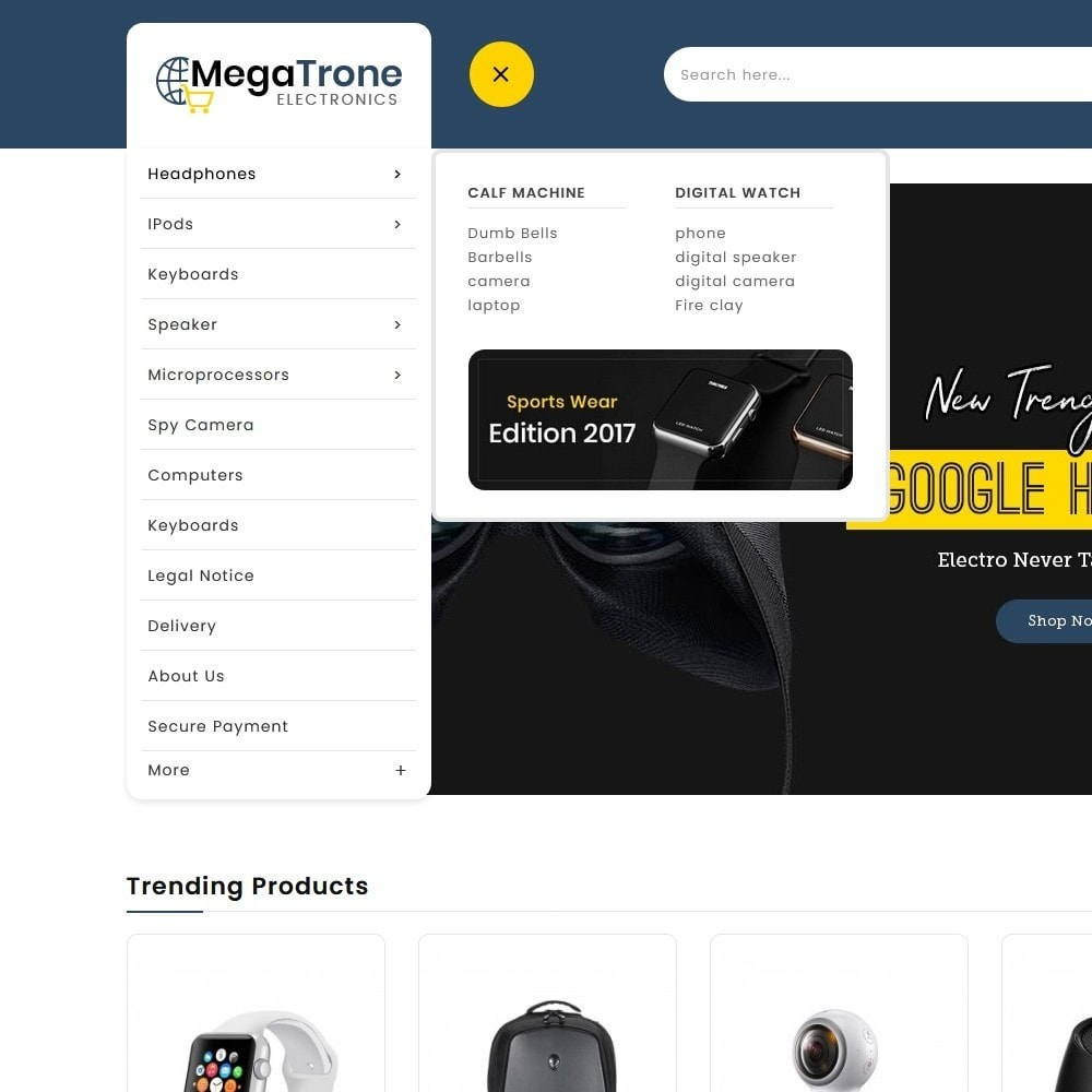 theme - Electronics & Computers - Mega Trone Electronics - 9