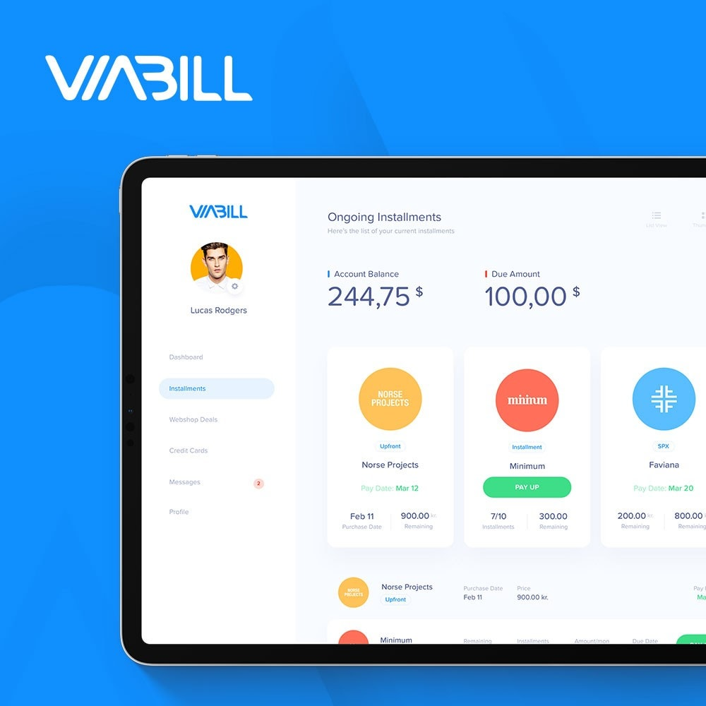 module - Zahlung per Kreditkarte oder Wallet - ViaBill Official – Try, before you buy! - 2