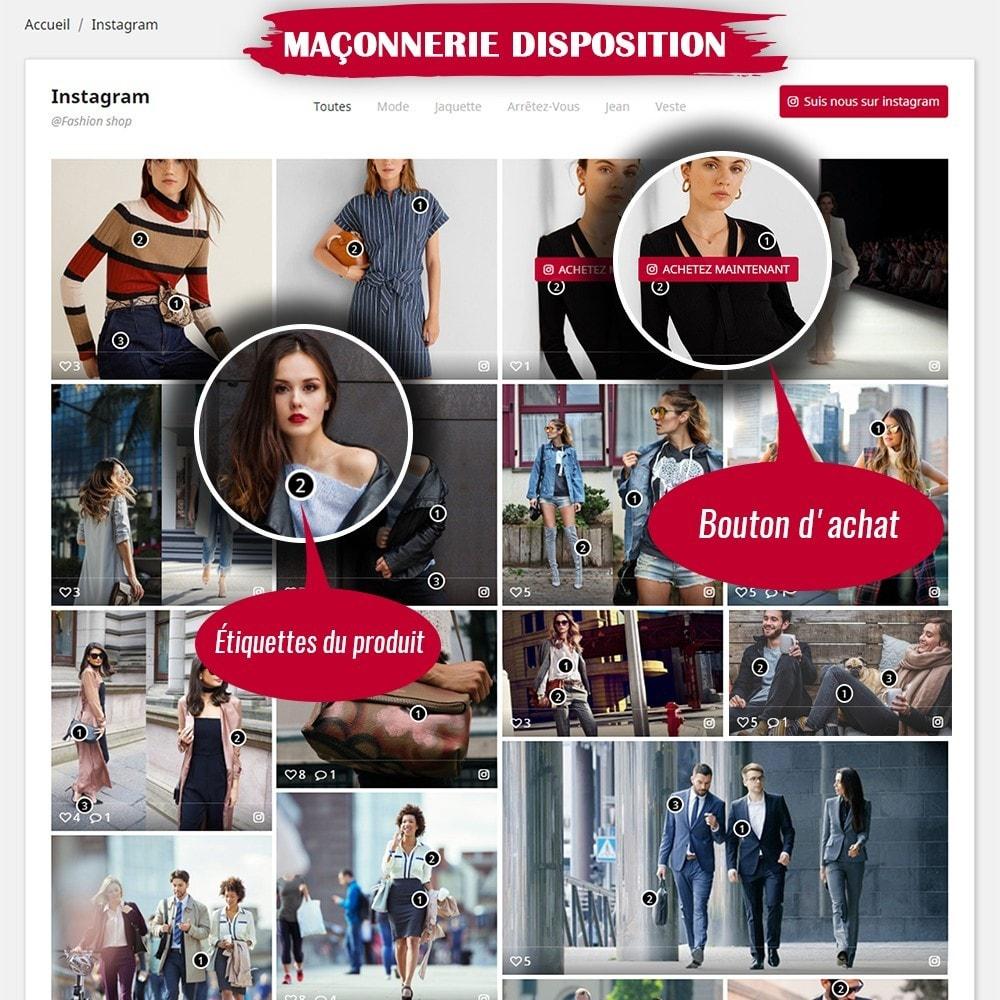 module - Sliders & Galeries - INS Shopping Slider - Intégration de réseau social - 4