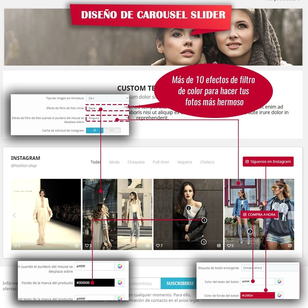 module - Sliders y Galerías de imágenes - INS Shopping Slider - Integración de redes sociale - 7