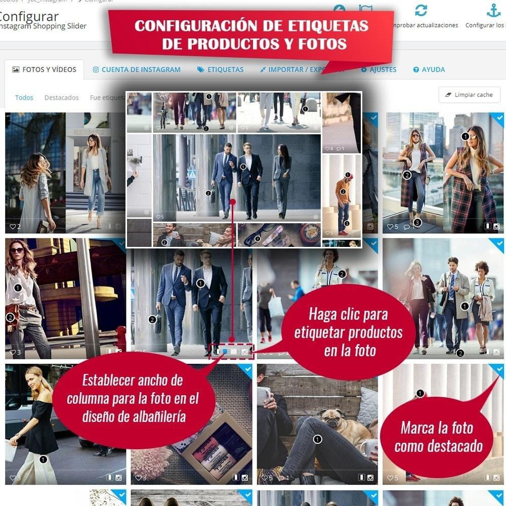 module - Sliders y Galerías de imágenes - INS Shopping Slider - Integración de redes sociale - 11