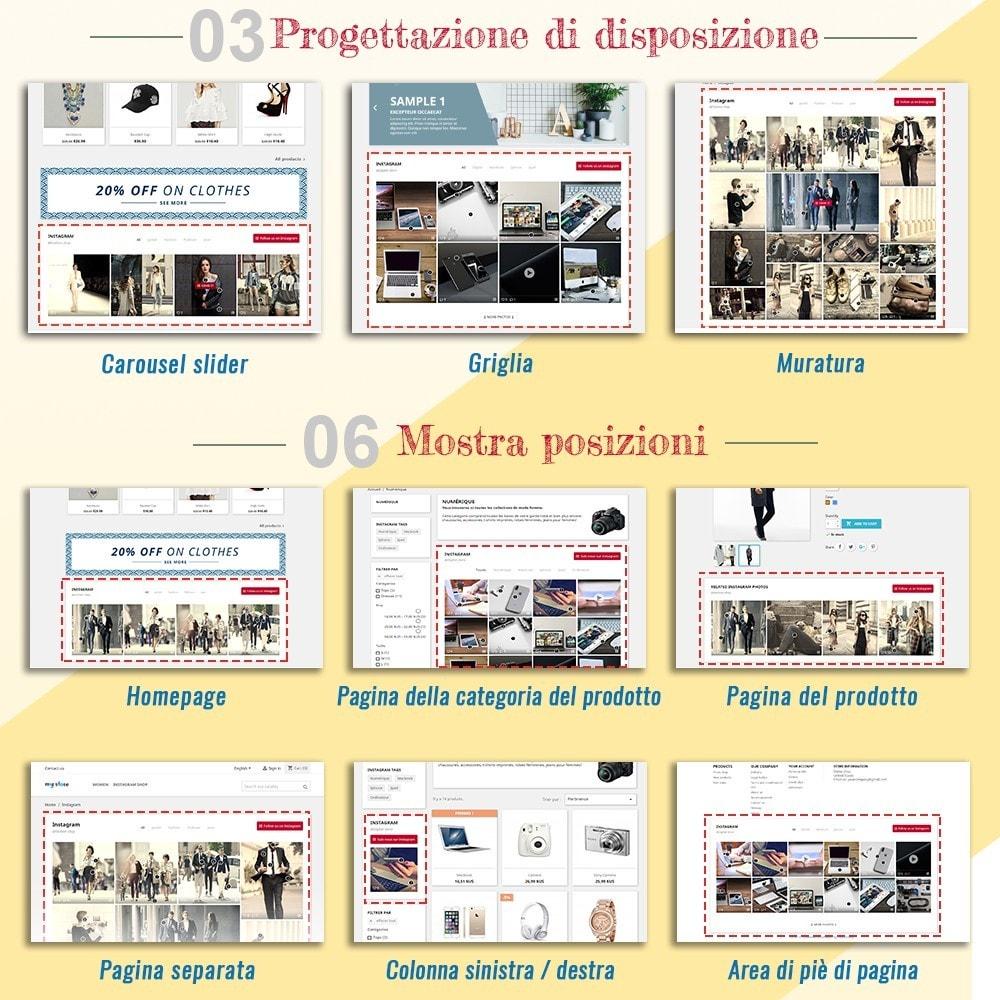 module - Slider & Gallerie - INS Shopping Slider - Integrazione social network - 2