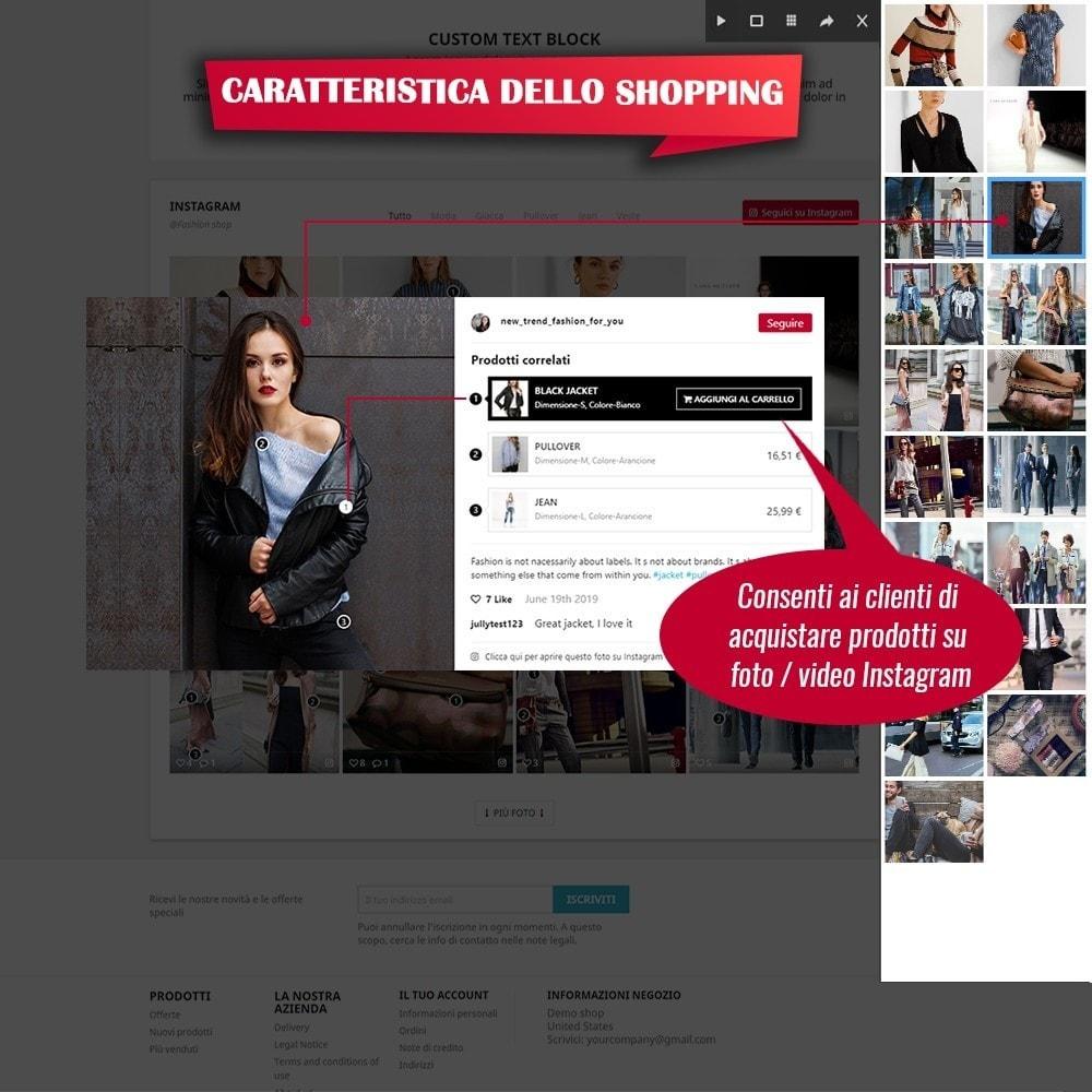module - Slider & Gallerie - INS Shopping Slider - Integrazione social network - 3