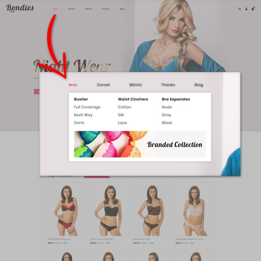 theme - Lingerie & Adultos - Bondies - Lingerie Store - 7