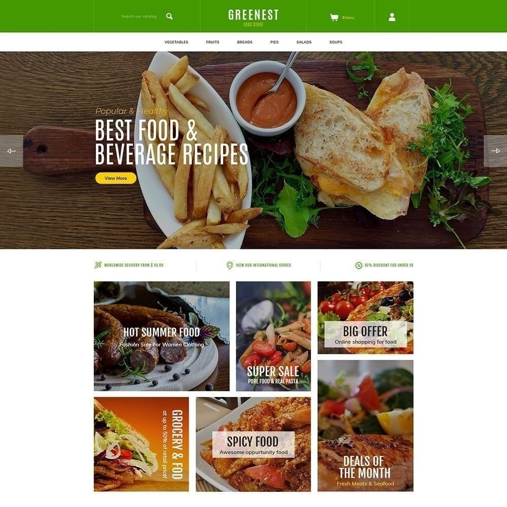 theme - Food & Restaurant - Green Food - Vegetables Fruits Store - 1