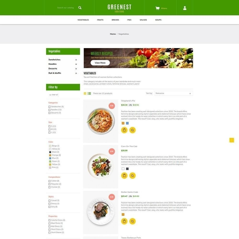 theme - Food & Restaurant - Green Food - Vegetables Fruits Store - 4