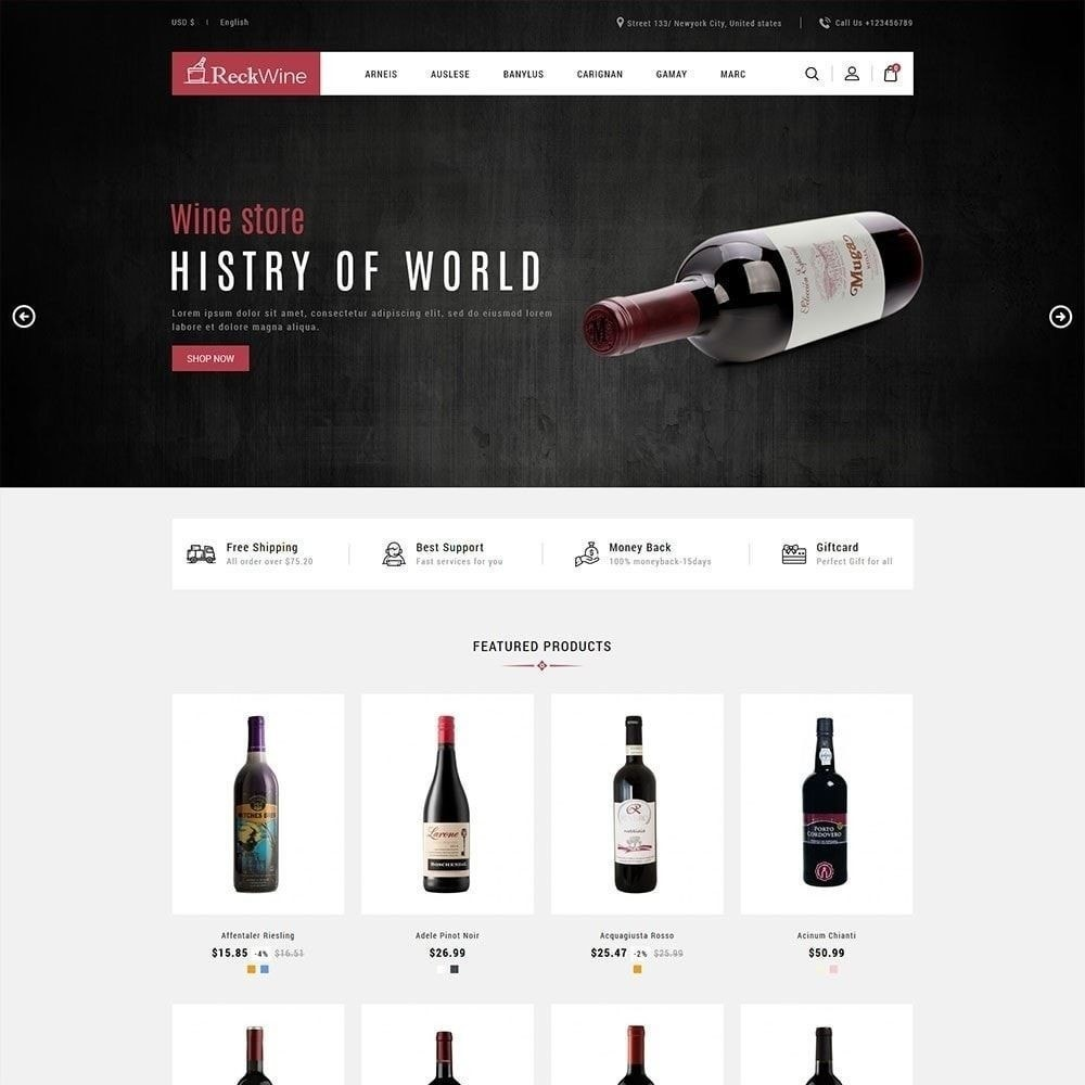 theme - Drink & Tobacco - Wine - Alcohol  Drink Store - 1