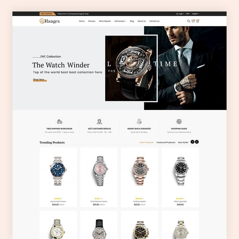 theme - Moda & Calçados - Rangex Watch Store - 2