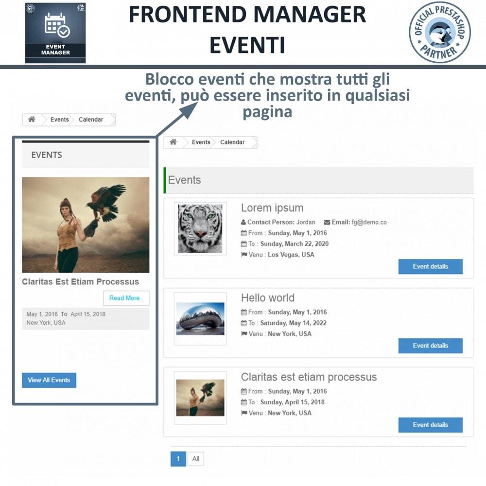 module - Prenotazioni & Noleggi - Manager degli Eventi, Crea Eventi & Vendi biglietti - 9