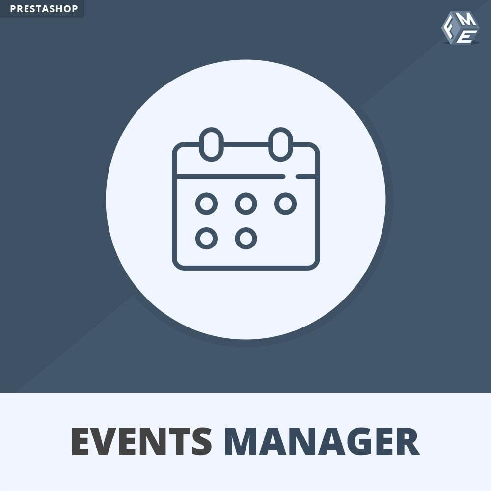 module - Verhuur en reserveringen - Evenementen Manager, Maak Evenementen en Verkoop Ticket - 1