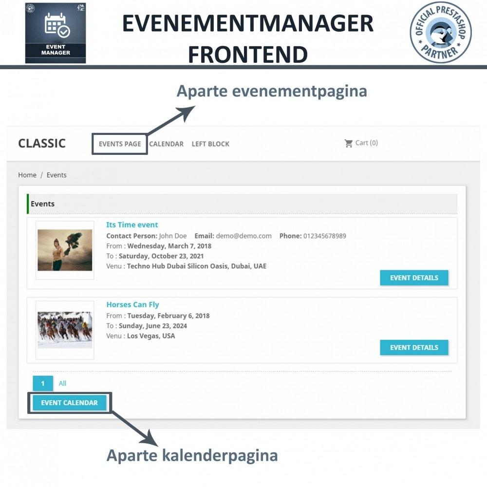module - Verhuur en reserveringen - Evenementen Manager, Maak Evenementen en Verkoop Ticket - 6