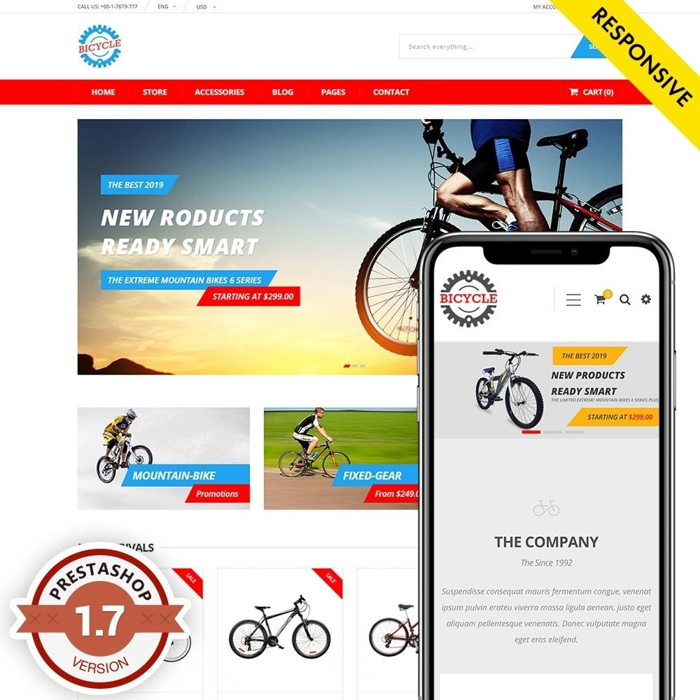 theme - Sports, Activities & Travel - Bicycle Store - 1