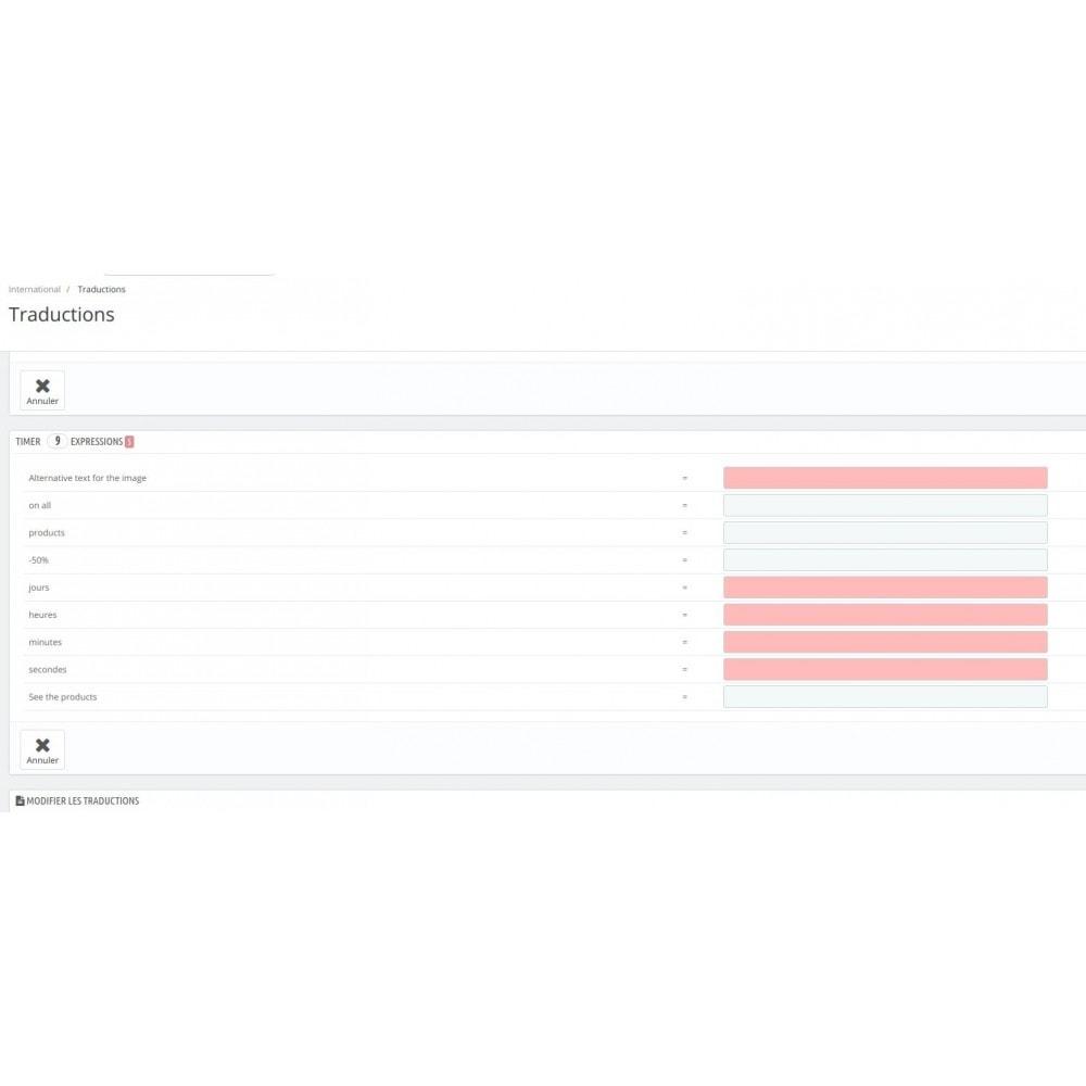 module - Ventes Flash & Ventes Privées - Compte à rebours en page d'accueil - 3