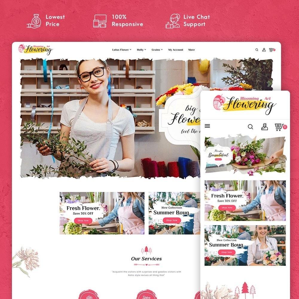 theme - Подарки, Цветы и праздничные товары - Flowering - Blooming Art - 1