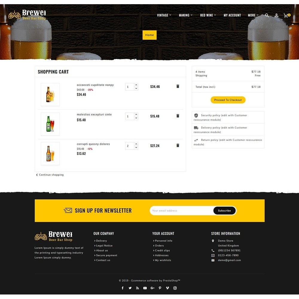theme - Drink & Wine - Brewery - Beer Bar & Pub - 6