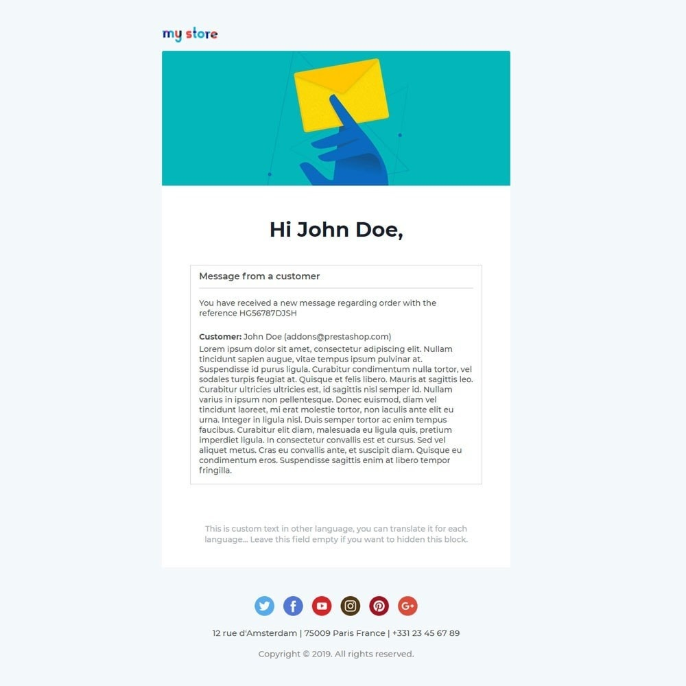 email - Email templates PrestaShop - Vic - Professional responsive Email Template - 5