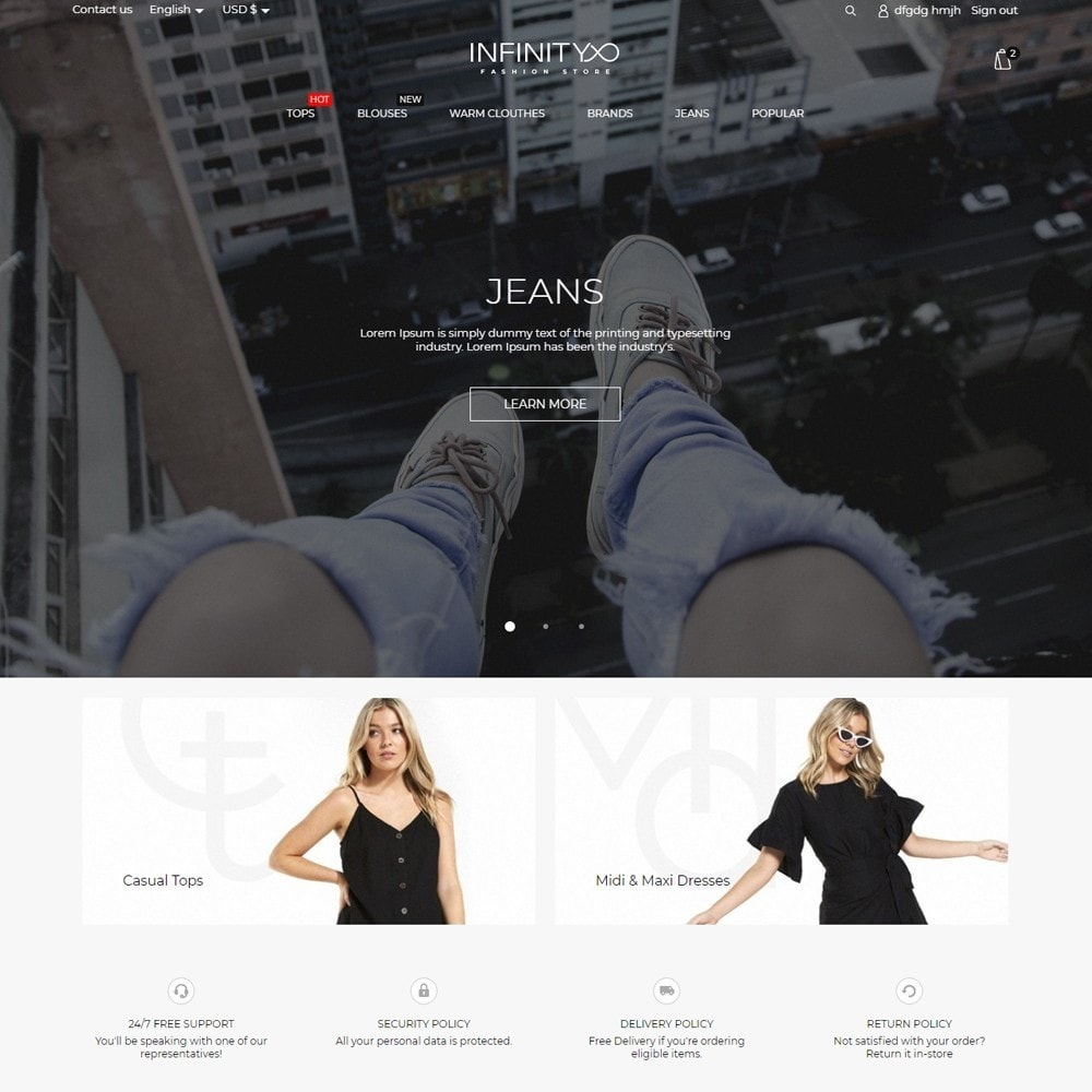 theme - Fashion & Shoes - Infinity Fashion Store - 2