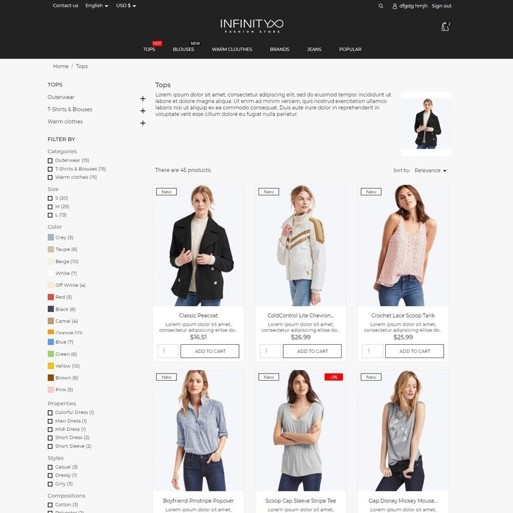 theme - Mode & Chaussures - Infinity Fashion Store - 5
