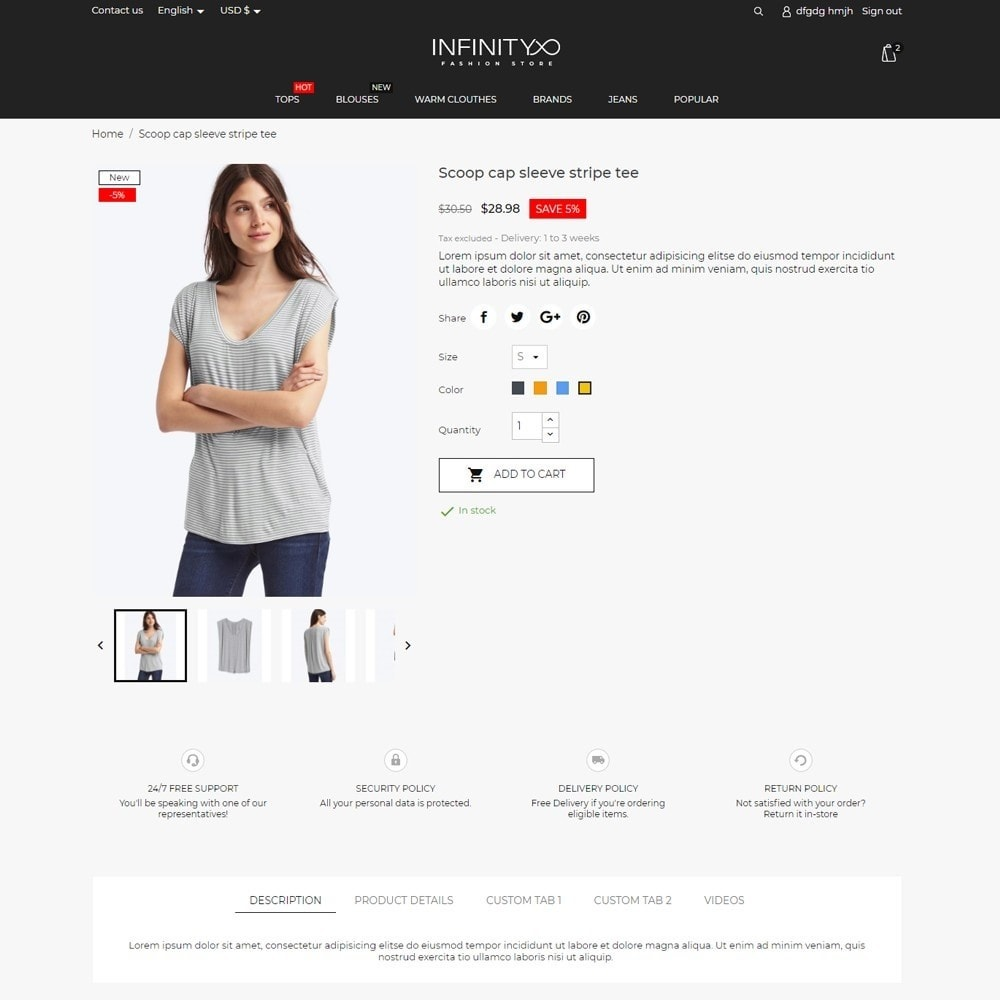 theme - Mode & Chaussures - Infinity Fashion Store - 6