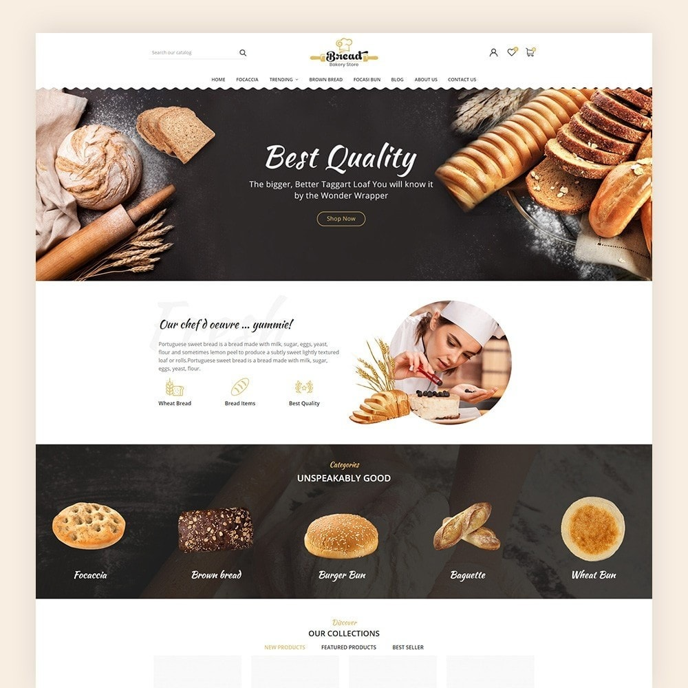 theme - Продовольствие и рестораны - Bread bakery Store - 2
