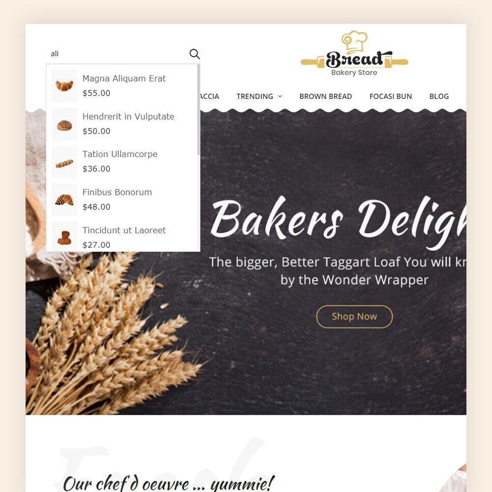 theme - Продовольствие и рестораны - Bread bakery Store - 3