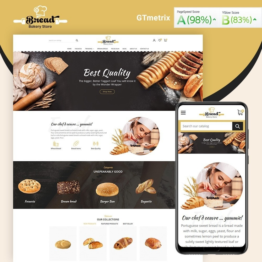 theme - Alimentation & Restauration - Bread bakery Store - 2
